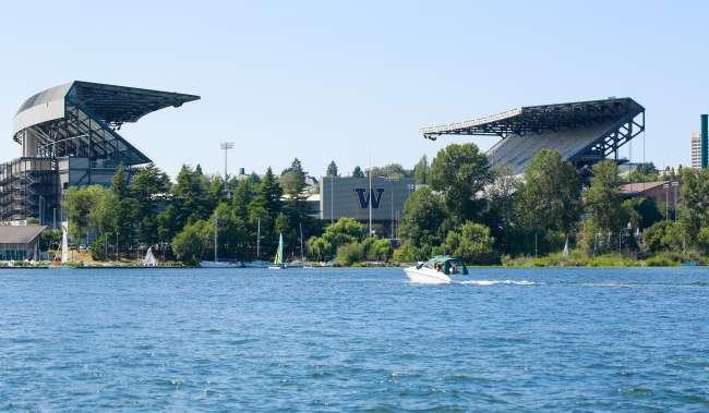 University of Washington Husky Stadium View from the Water