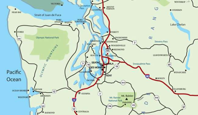 Western Washington Map