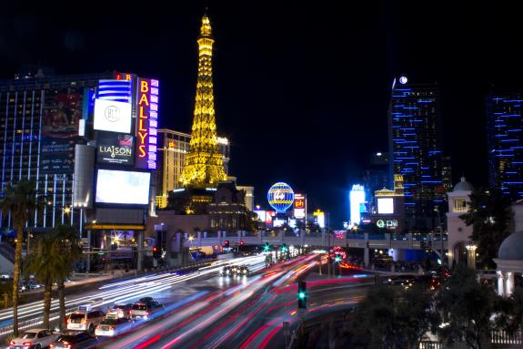 Vegas Strip Long Exposure Night