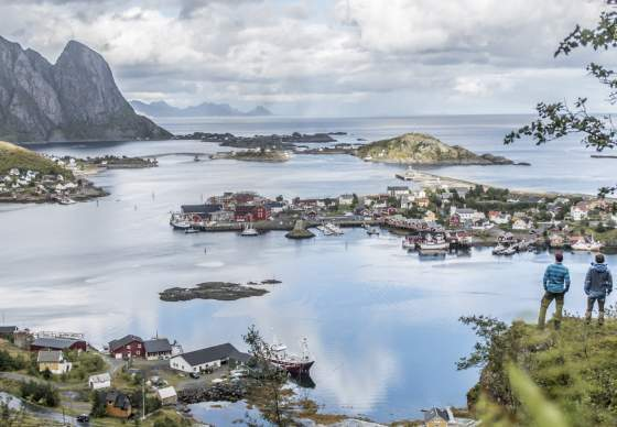 View over Reine in Lofoten