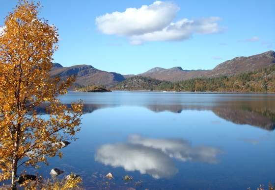 Autumn in the Setesdal mountains
