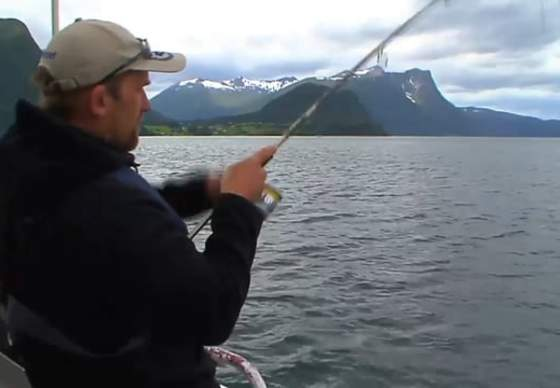 Fishing in the Romsdalsfjord