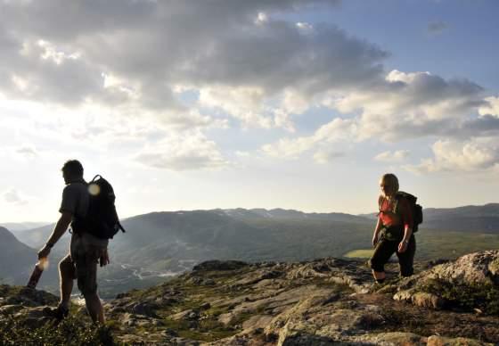 Hiking to a peak