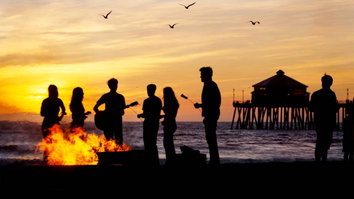 Image result for bonfire on beach
