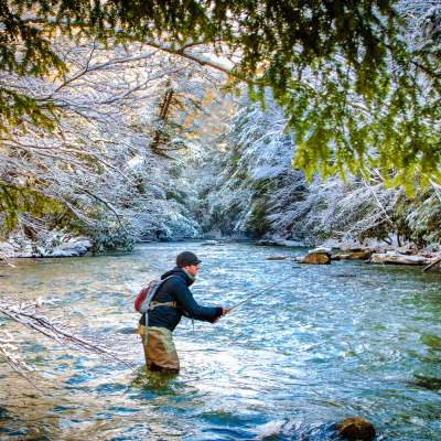 Winter Fishing Laurel Highlands