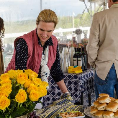Inside the tent 2016 Howard County Cup Races