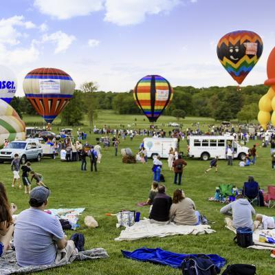 Enjoying the Hot Air Balloon Festival at Turf Valley