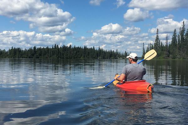 Going for a paddle on the pristine waters of Northern Manitoba