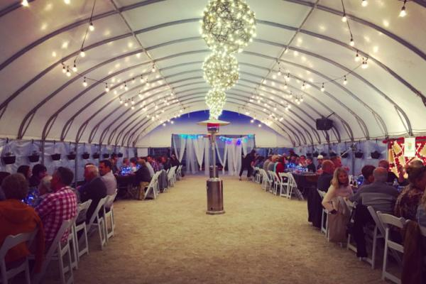 Interior view of the St. Norbert Farmers Feast tent