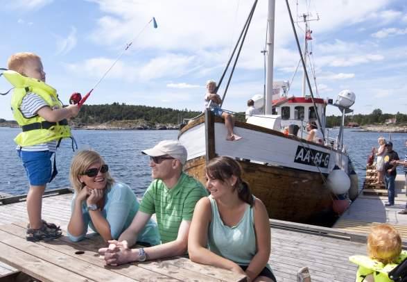 Badebåten i Grimstadskjærgården