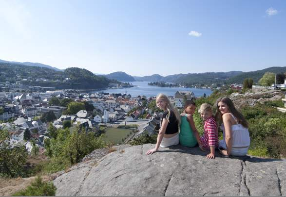 View over Flekkefjord in Southern Norway
