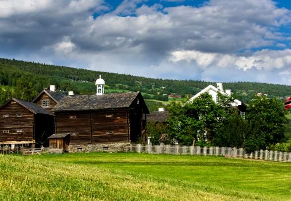 Sygard Grytting historic hotel in the Gudbrandsdalen valley