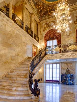Marble House Foyer-Newport