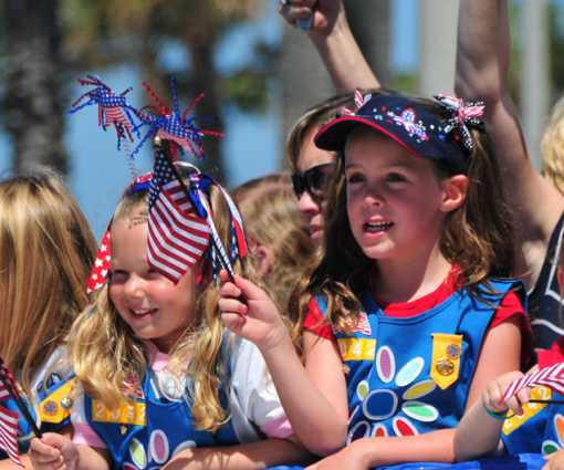 4th of July Parade Daisy Girl Scouts