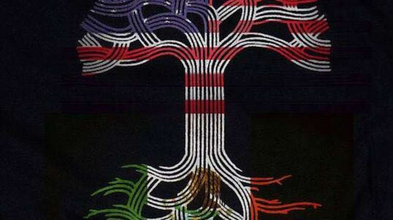American Mexican Tree Flag