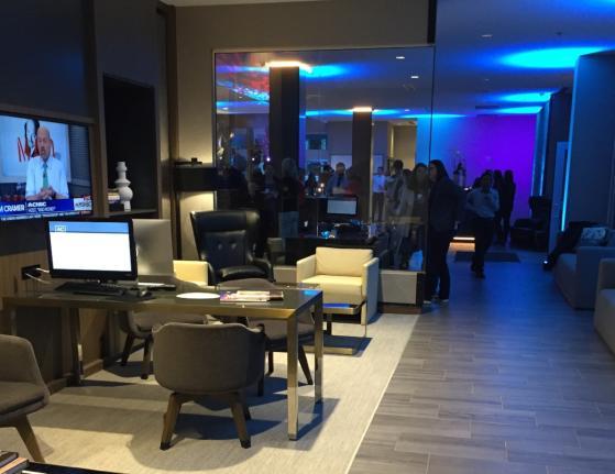 AC Hotel Business Center + Lounge Area