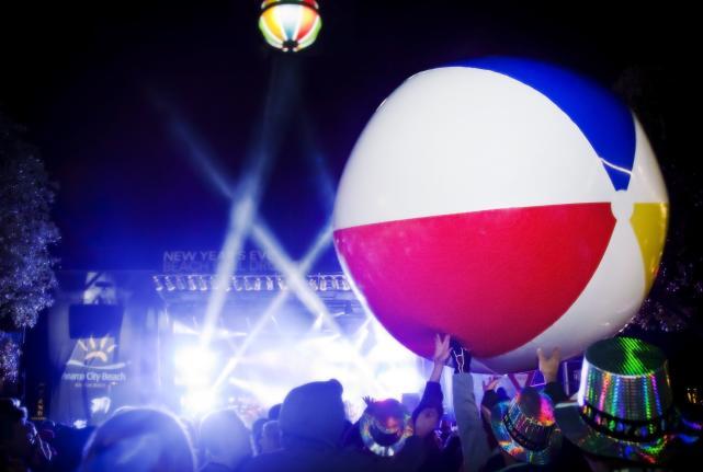 New Year's Eve Beach Ball Drop Panama City Beach Florida