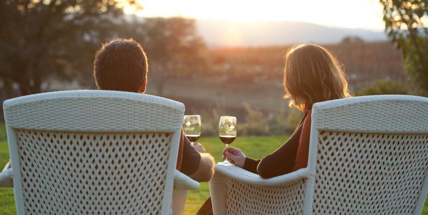 couple drinking wine at sunset_juice media credit