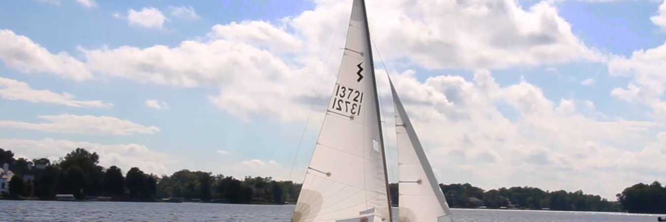 Sailing on Geist Reservoir in Fishers, IN