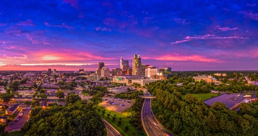 10 places to catch summer sunrises and sunsets in raleigh for Skyline motors raleigh nc