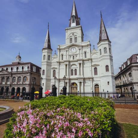 Jackson Square - St. Louis Cathedral - Springtime