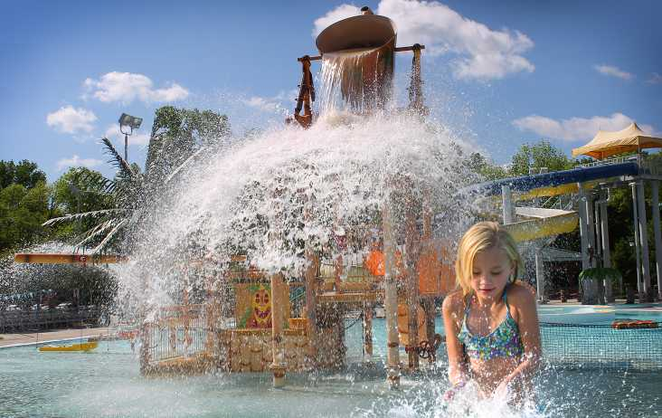 Girl Playing at Splash Island Family Water Park