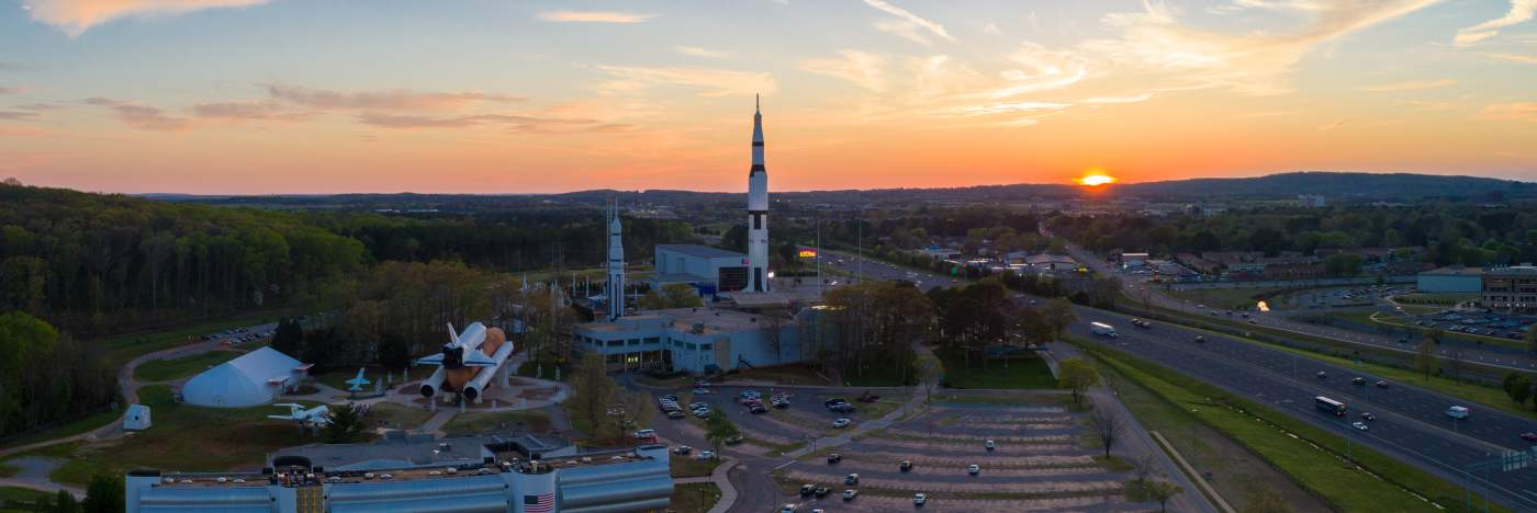 Aerial photo of Rocket Center