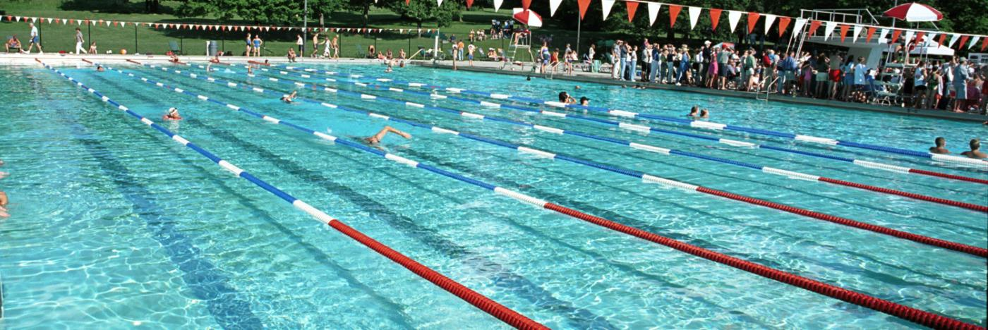 Swimming in bloomington in aquatic centers lakes for Community swimming pool grants