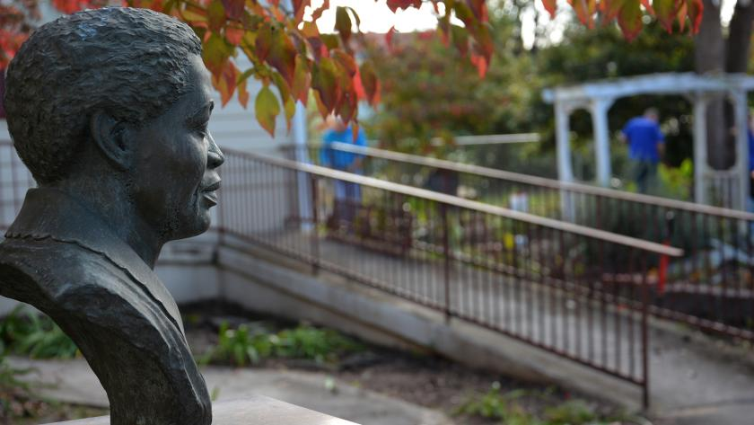 Lucy Laney Bust in Gardens