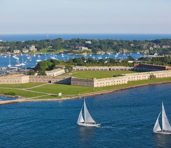 Aerial View of Fort Adams