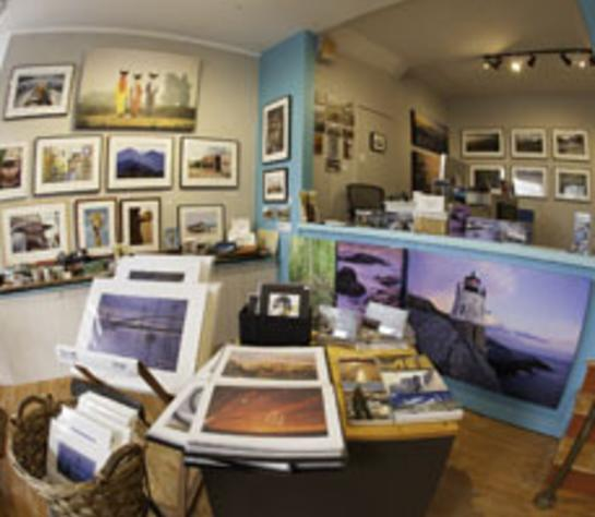 Wide Angle Photo of the Blink Art Gallery Interior