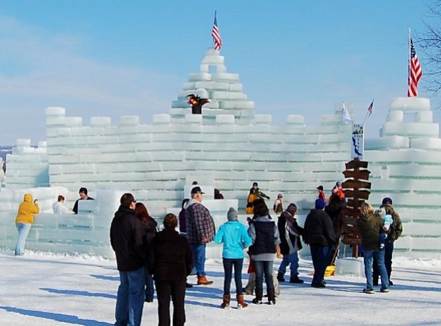 President's Day Winter Festival - Ice Castle - Mayville Lakeside Park on Chautauqua Lake