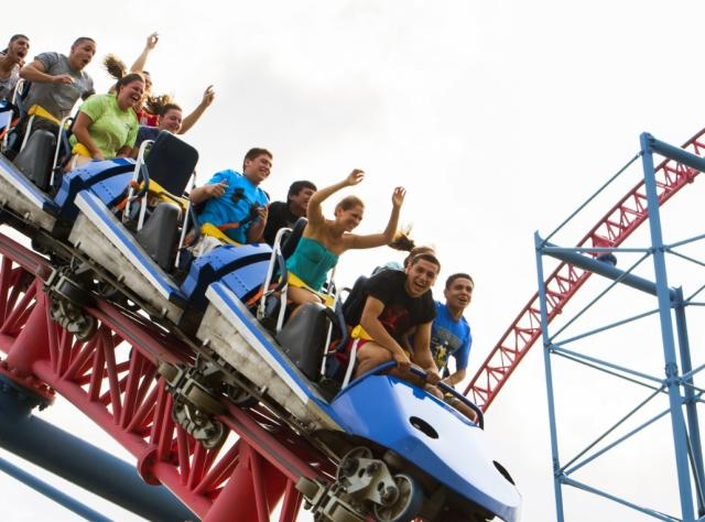 Darien Lake Amusement Park - Ride of Steel - Photo by NYS ESD