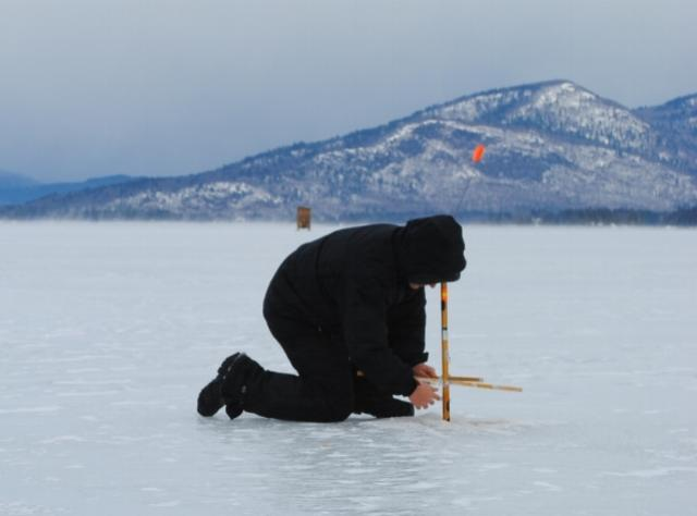 Warren County Ice Fishing - Photo Courtesy of Warren County