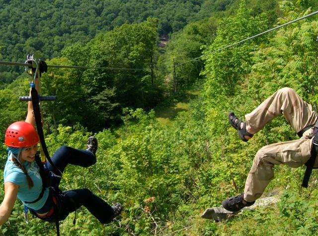 Zipline at Hunter Mountain - Photo by NYS ESD