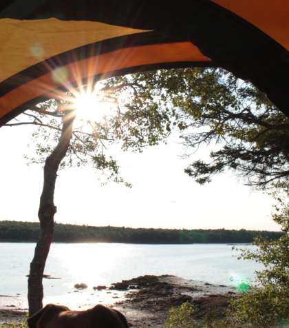 Maine oceanfront camping