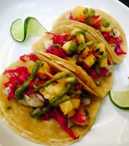 Caitlan Etchevers Fish Tacos