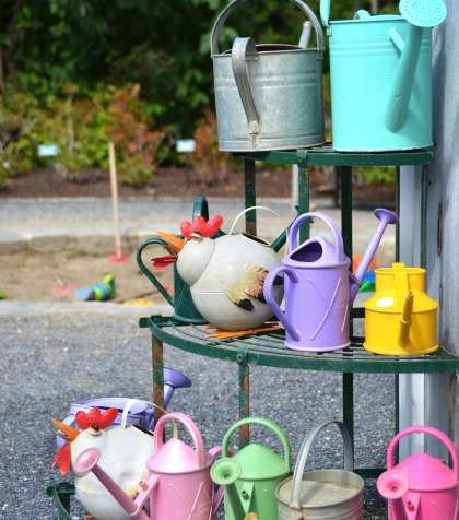 Watering Cans Coastal Maine Botanical Gardens