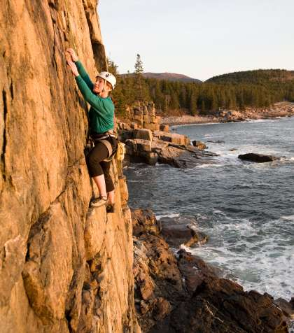 Otter Cliff Climbing Acadia National Park Maine