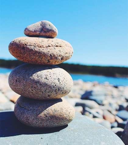 Rock Sculpture on the Beach