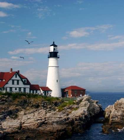 Portland Headlight lighthouse, Greater Portland Maine