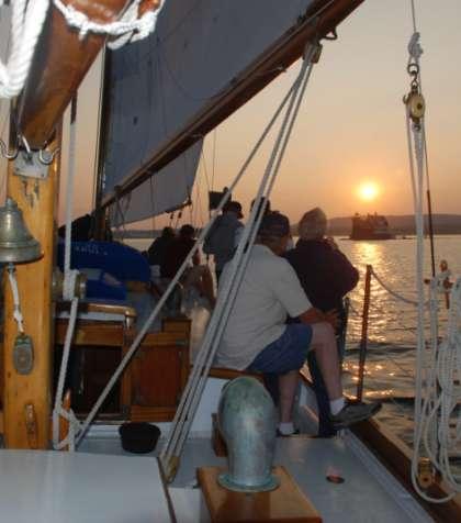 Schooner Windjammer Sunset