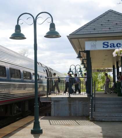 Amtrak Downeaster Train Saco Maine