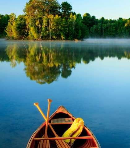 Canoe on Maine Lake