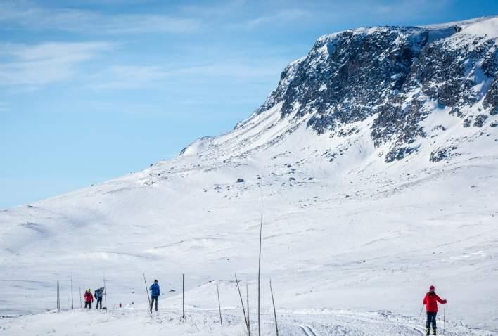 Skiing, by the Hallingskarvet Nationalpark