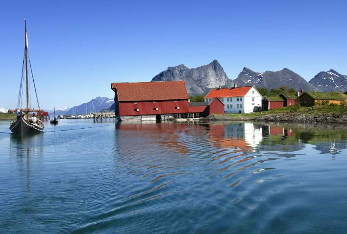 The old trading post of Kjerringøy in Northern Norway