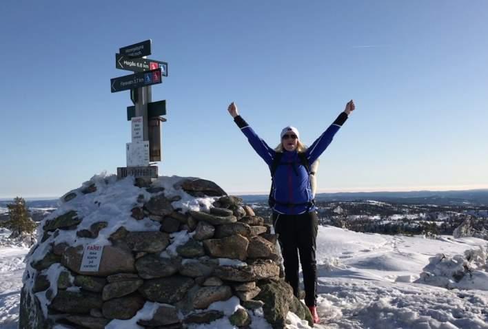 Bli med på en skitur til Himmelsyna i skiløypene på Høgås/Gautestad