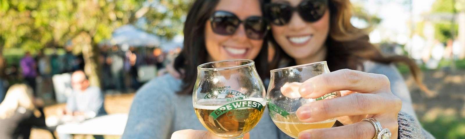 Brewfest Women Cheersing