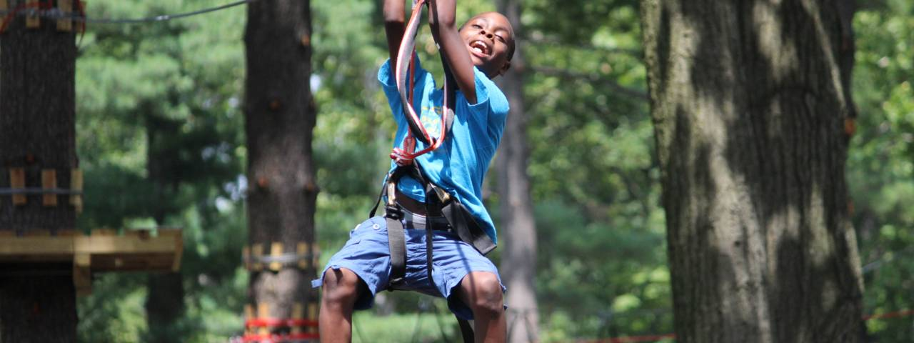 Ziplining at Elmwood Park Zoo