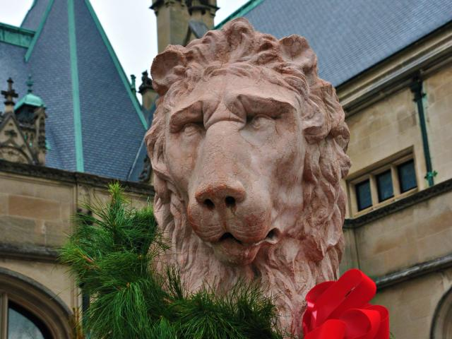 Christmas at Biltmore Lion